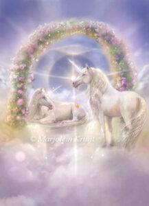 (38) unicorn portal - oracle card illustration