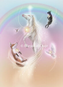 (39) ascension lift - animals and unicorns / oracle card