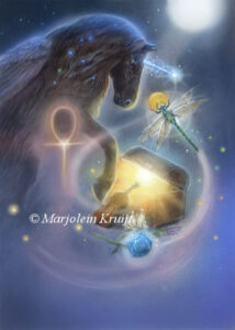 (10) explore your treasure chest - black unicorn artwork