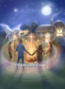 (25) caring community oracle card artwork