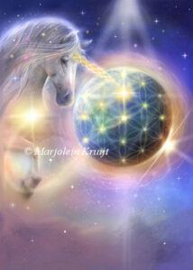(42)oneness - unicorns helping the earth ascend - artwork