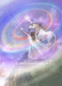 (43) enlightenment - Unicorns help you lift the veils of amnesia - artwork /illustration